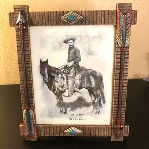 Southwest Picture Frame 8x10 With Turquoise Accent